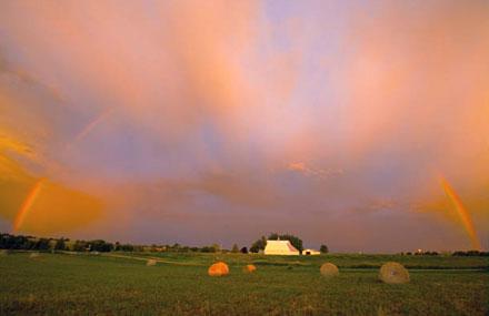 Iowa rainbow, sunrise rainbox