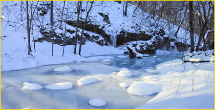 iowa winter, snowy creek, joseph stanski