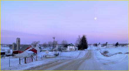 iowa winter, snowy countryside, snowy farm, Joseph Stanski