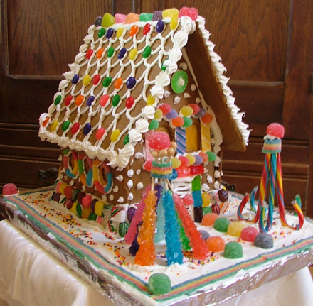 gingerbread house, gingerbread