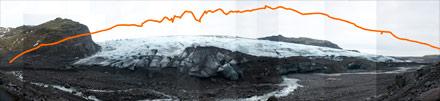 chasing ice, solheim glacier