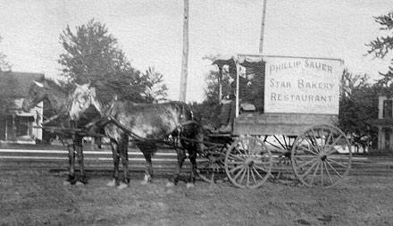 fairfield ia, phillip sauer, restaurant delivery wagon