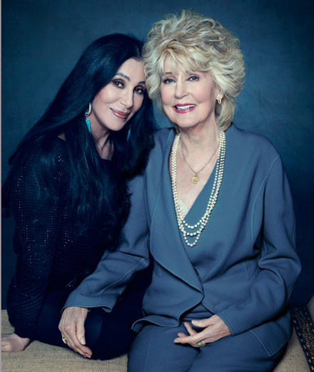 cher and mom, cher mom