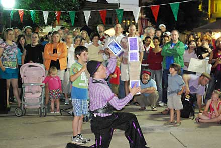 all things italian fairfield, street juggler